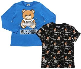 Moschino Set Of 2 Cotton Jersey T-shirt