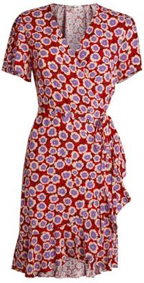 Diane von Furstenberg Estrella Wrap Mini Dress