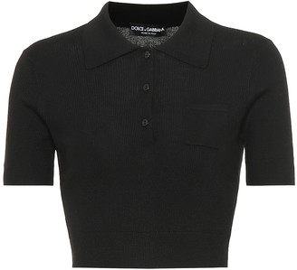 Dolce & Gabbana Cashmere and silk polo shirt