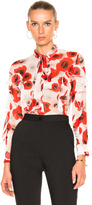 Nicholas Poppy Floral Ruffle Top in Floral,Red,White.