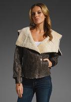 DOMA Shearling Lined Jacket w/ Hood