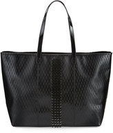 L.A.M.B. Jinger Studded Leather Tote Bag, Black
