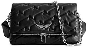 Zadig & Voltaire Rocky Quilted Lambskin Leather Shoulder Bag