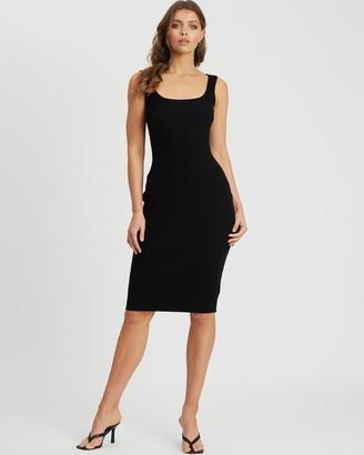 Tussah - Women's Black Midi Dresses - Carolina Knit Dress - Size 12 at The Iconic