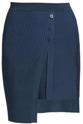 Jonathan Simkhai Emily Asymmetric Ribbed Skirt