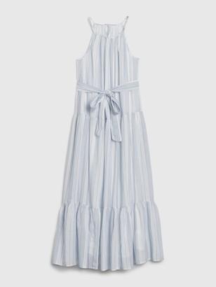 Gap 1969 Tiered Halterneck Dress