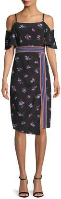 Nanette Lepore Songbird Silk Cold-Shoulder Dress