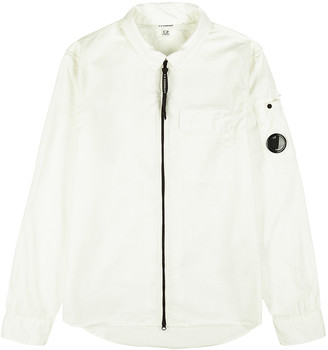C.P. Company White Cotton Overshirt