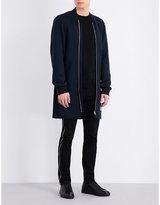 Mcq Alexander Mcqueen Longline Wool Coat