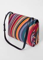 Paul Smith Women's 'Swirl' Print Textured Calf Leather Shoulder Bag