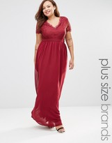 Club L Plus Maxi Dress With Scallop Lace Top
