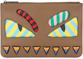 Fendi Faces clutch - men - Calf Leather - One Size