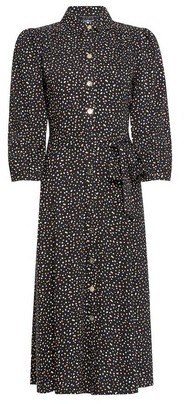 Dorothy Perkins Womens Black Multi Spot Print Shirt Dress, Black