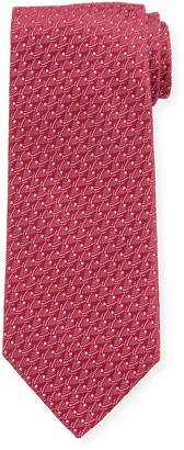 Charvet Men's Micro-Pattern Silk Tie