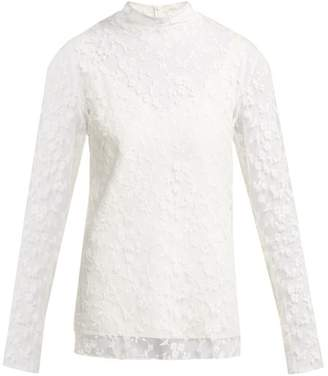 Chloé Floral-lace Long-sleeved Blouse - Womens - Ivory