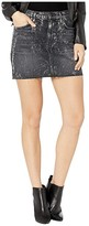 Hudson Jeans Viper Skirt in Blackened Metallic (Blackened Metallic) Women's Skirt
