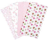 Trend Lab Owl Garden Flannel Burp Cloth - Set of Four