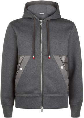 Moncler Quilted Cotton Zipped Hoodie