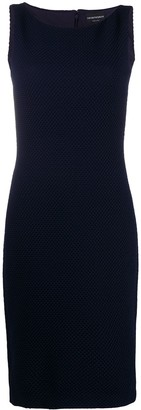 Emporio Armani Ribbed Bodycon Midi Dress