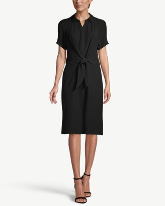 Chico's Short-Sleeve Tie-Waist Shirt Dress
