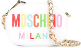 Moschino oval logo crossbody bag - women - Calf Leather - One Size