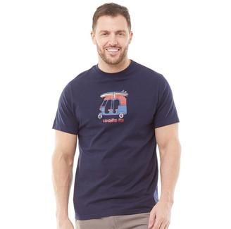 Kangaroo Poo Mens Printed T-Shirt Navy