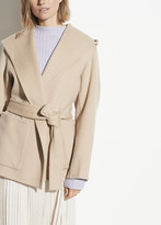 Hooded Wool Cashmere Coat