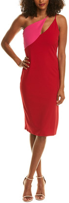 Bebe Asymmetrical Sheath Dress