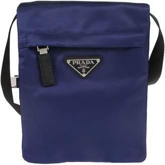 Prada Logo Plaque Boxy Shoulder Bag