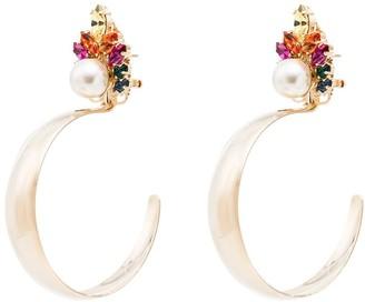 Anton Heunis crystal cluster hoop earrings