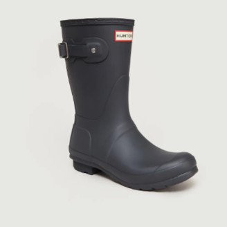Hunter Short Anthracite Rubber Rain Boots - 3 | rubber | anthracite