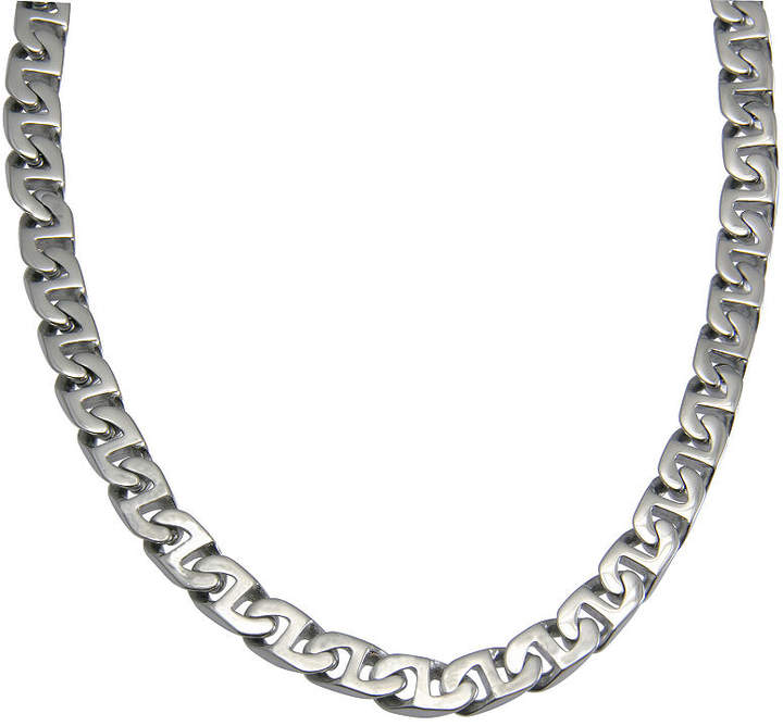 JCPenney FINE JEWELRY Men's 24 Link Necklace in Stainless Steel