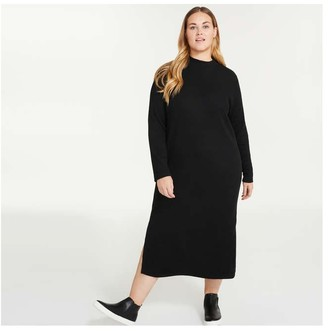 Joe Fresh Women+ Mock Neck Dress, JF Black (Size 1X)