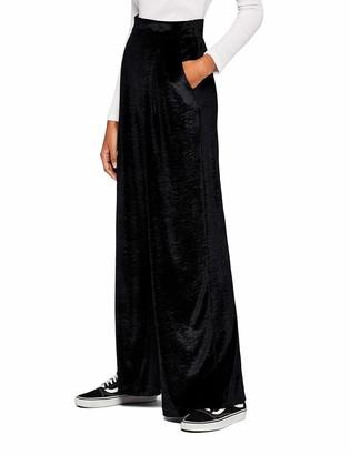 Find. Amazon Brand Women's Soft Velour Wide Leg Trouser
