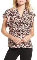 Cupcakes And Cashmere Women's Gabe Tie Neck Blouse