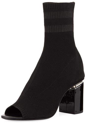 Alexander Wang Knit Sock Cat Boot, Black