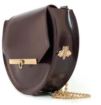 Angela Valentine Handbags Loel Military Bee Circle Bag In Merlot