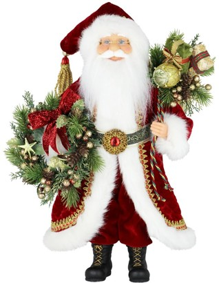 Windy Hill Collection Red & Wreath Santa Figurine