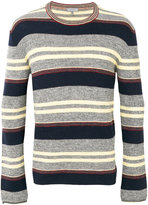 Lanvin striped crew neck jumper