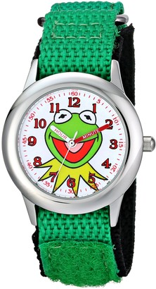 Disney Kids' W001623 The Muppets Kermit Stainless Steel Watch with Nylon Strap