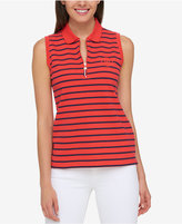 Tommy Hilfiger Sleeveless Zip-Detail Polo, Created for Macy's