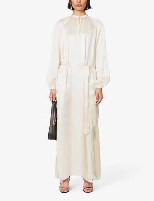 Le Kasha Quetta belted silk maxi dress