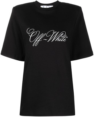 Off-White padded-shoulder logo-print T-shirt