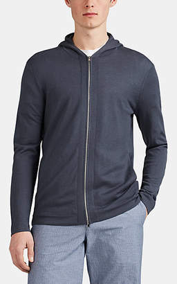 Theory Men's Lievos Cashmere Zip-Front Hoodie - Dk. Blue