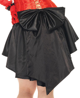 Leg Avenue Black Satin Burlesque Skirt