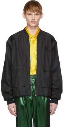 Gucci Black Grosgrain Detail Jacket