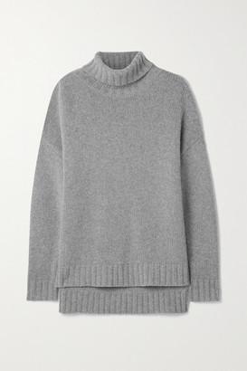Nili Lotan Brently Oversized Cashmere Turtleneck Sweater - Gray