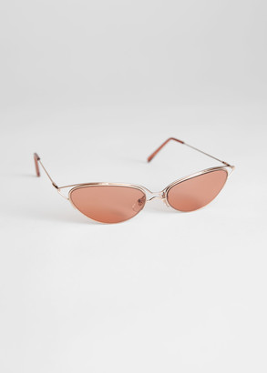 And other stories Wire Frame Cat Eye Sunglasses