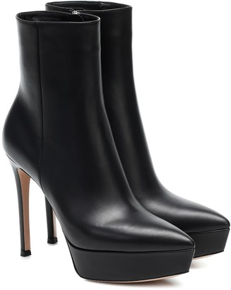 Gianvito Rossi Dasha leather ankle boots