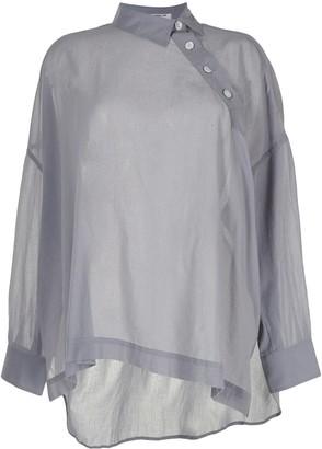 Yohji Yamamoto Asymmetric Placket Shirt